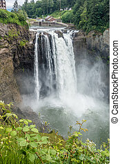 Waterfall At Snoqualmie 8 - Water explodes into a waterfall...