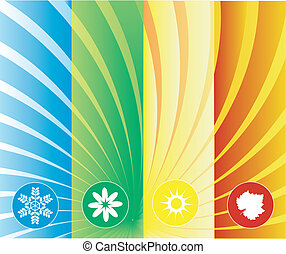 four seasons background can be used separately or as whole