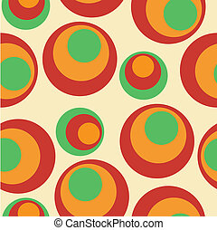 seamless background with funky circles