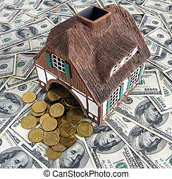 Invest in real estate and win concept - House model is...