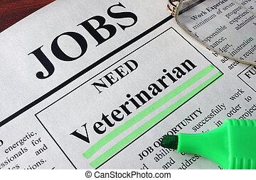 vacancy Veterinarian