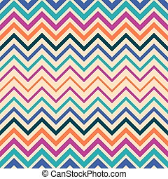 Colorful vector seamless zigzag pattern