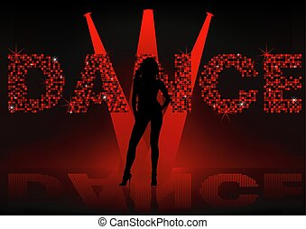Dance Wallpaper - Girl silhouette, Background illustration