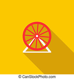 Ferris wheel icon, flat style - icon in flat style on a...
