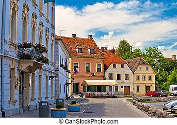 Town of Karlovac street view, central Croatia