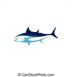 Tuna - Beautiful blue tuna fish vector illustration isolated...