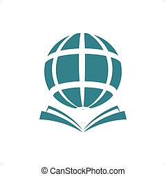 World Translator - Globe with open book knowledge ideas...