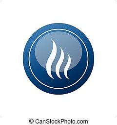 Sauna Icon - Stylized blue sauna icon vector illustration...