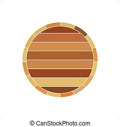 Barrel Profile - Wooden wine brown barrel profile vector...