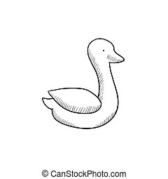 Duck sketch icon - Duck sketch icon for web, mobile and...