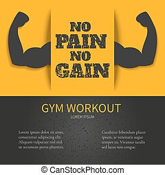 Gym poster with a quote