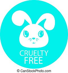 Animal cruelty free icon design. Animal cruelty free symbol...