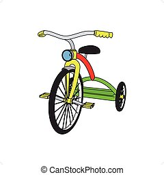 Tricycle - Beautiful colored 3D tricycle vector illustration...