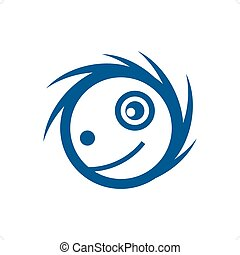 Ragged - Blue ragged cartoon style mascot vector...
