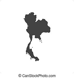 Thailand Map - Thailand map slhouette vector illustration...