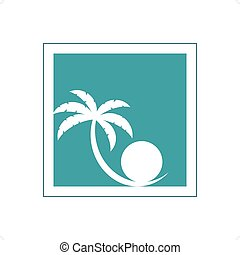 Palm Tree And Pearl Logo - Stylized palm tree and perl...