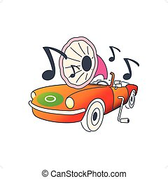 Automobile Gramophone - Colorful automobile like gramophone...