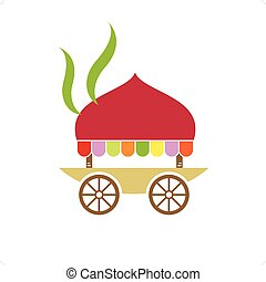 Asian Cuisine - Asian cuisine outdoor mobile street kitchen...