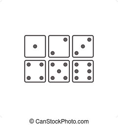 Dices icon set vector illustration isolated on white...
