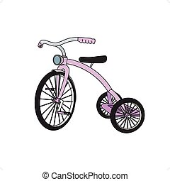 Tricycle For Girls - Beautiful colored 3D tricycle for girls...