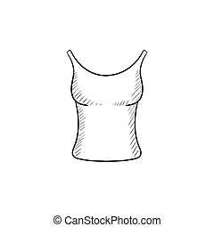 Singlet sketch icon - Singlet vector sketch icon isolated on...
