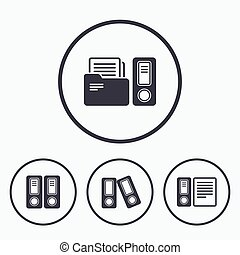 Accounting icons Document storage in folders - Accounting...