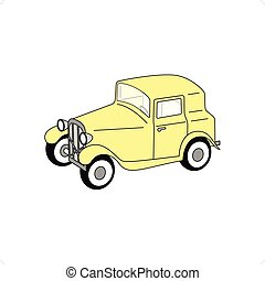 Old Timer Fictional - 3D yellow old timer fictional vector...