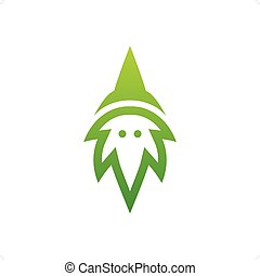 Wizard - Cute cartoon style wizard mascot vector...