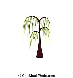 Willow - Beautiful stylized willow tree vector illustration...