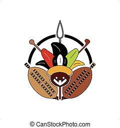 Zulu Tribe Sign - Beautiful colorful zulu tribe sign with...