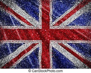 Glittery Union Jack Flag background