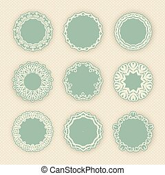 Decorative circular borders