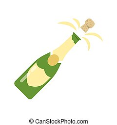bottle of Champagne explosion - Illustration of explosion of...