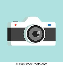 photo camera with lens