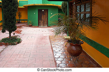Yard of building in in San Cristobal de las Casas