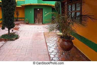 Yard of building in in San Cristobal de las Casas