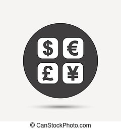 Currency exchange sign icon. Currency converter symbol....