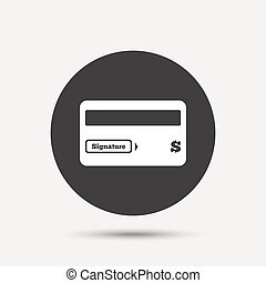 Credit card sign icon Debit card symbol Virtual money Gray...