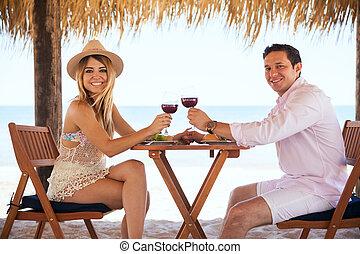 Cute Latin couple enjoying their honeymoon - Good looking...
