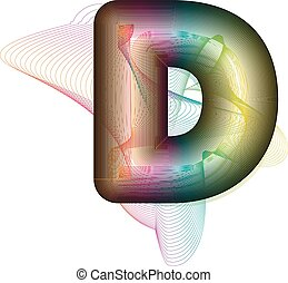 Abstract colorful Letter D. Vector Illustration