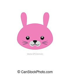 Isolated animal - Isolated cute rabbit on a white background