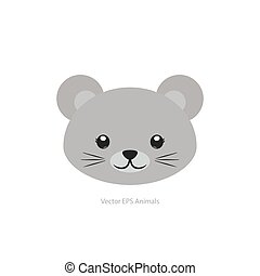 Isolated animal - Isolated cute mouse on a white background