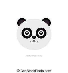 Isolated animal - Isolated cute panda on a white background