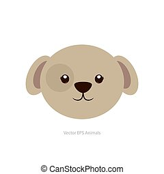 Isolated animal - Isolated cute dog on a white background