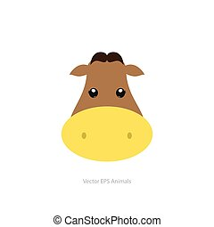 Isolated animal - Isolated cute cow on a white background