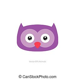 Isolated animal - Isolated cute owl on a white background