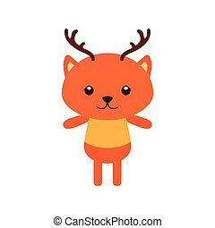 Isolated animal - Isolated cute deer on a white background