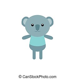 Isolated animal - Isolated cute koala on a white background