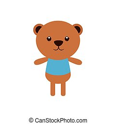Isolated animal - Isolated cute bear on a white background