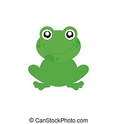 Isolated animal - Isolated cute frog on a white background